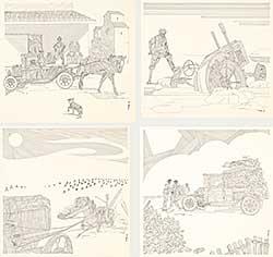 #324 ~ Zubrin - Lot of 4 Farm Scenes