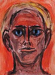 #7 ~ Aller - Untitled - Self Portrait with Orange Background