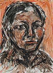 #9 ~ Aller - Untitled - Portrait of a Woman in Black and Brown