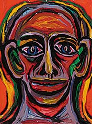 #16 ~ Aller - Untitled - Portrait of Man in Vivid Colour I
