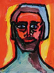 #18 ~ Aller - Untitled - Portrait of Man in Vivid Colour III