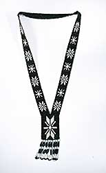 #41 ~ Aller - Untitled - Black and White Beaded Necklace