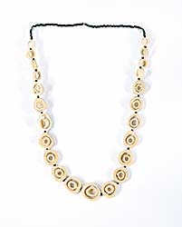 #45 ~ Aller - Untitled - Moose Bone Necklace with Black Beads