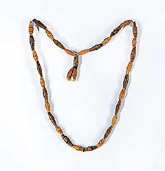 #54 ~ Aller - Untitled - Rolled Birch Bark Necklace on Moose Hide