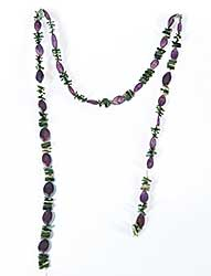 #60 ~ Aller - Untitled - Pumpkin Seed and Porcupine Quill Necklace
