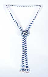 #63 ~ Aller - Untitled - Blue and White Beads Bolo Necklace