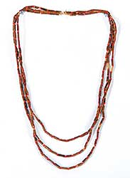 #67 ~ Aller - Untitled - Red Willow Beaded Necklace