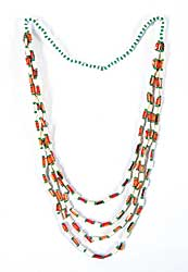 #69 ~ Aller - Untitled - Bird Quill with Green Beads Necklace