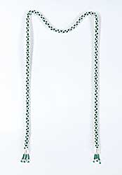 #73 ~ Aller - Untitled - Green and White Rope Necklace [No Bolo]