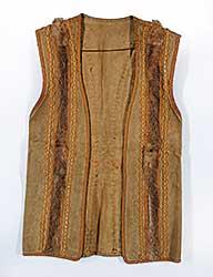 #78 ~ Aller - Untitled - Moose Hide Sleeveless Jacket with Rabbit Fur