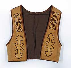 #82 ~ Aller - Untitled - Leather Vest with Applique Figures