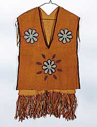 #84 ~ Aller - Untitled - Beaded and Leather Applique Vest