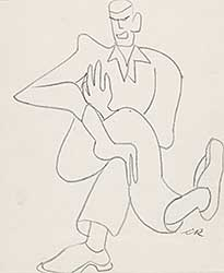 #675 ~ Robinson - Untitled - Laughing Man