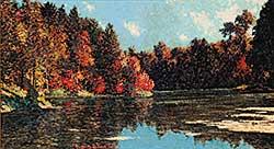 #50 ~ Johnston - October Lagoon, A Favourite Fishing Spot on the Penetang Penninsula