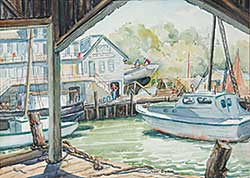 #668 ~ Eyden - Untitled - Boats at the Pier
