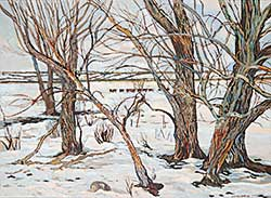 #901 ~ Van Belkum - Cows in Snow I