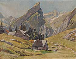 #865 ~ Zehntner - Seealp mit Rossmad and Santis