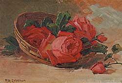 #869 ~ Zehntner - Untitled - Basket of Roses