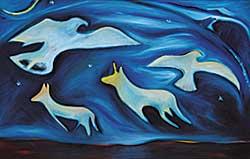 #7 ~ Cardinal-Schubert - Moonlight Sonata: Night Wings Ghost Dance