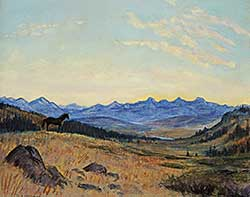 #39 ~ Gissing - Untitled - Looking up the Bow Valley