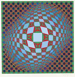 #329 ~ Vasarely - Untitled - Vilag  #170/275