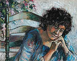 #343 ~ McCay - Untitled - Young Woman on Green Chair