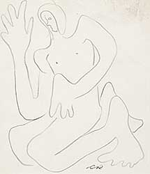 #389 ~ Robinson - Untitled - Abstract Figure