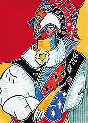 #639 ~ Espinoza - Untitled - Harlequin