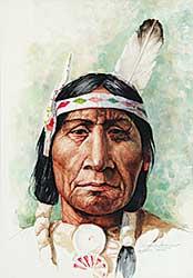 #729 ~ van den Hoogen - Untitled - Alberta Indian