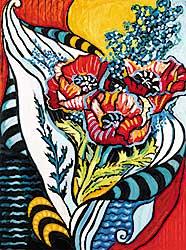 #430 ~ Espinoza - Cala Lily and Popies [sic] Composition