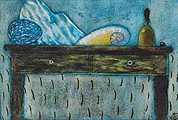 #794 ~ Vertoutel - Untitled - Sill Life with Hand Bell and Sea Shell