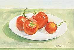 #1210 ~ Jamieson - Untitled - Plate of Tomatoes