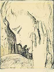 #1399 ~ Van de Bundt - Untitled - Daydreaming Woman  #8/20