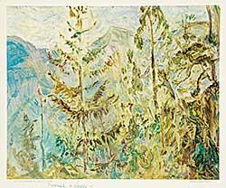 #1402 ~ Varley - Tree Pattern, Kootenay Lake, B.C.