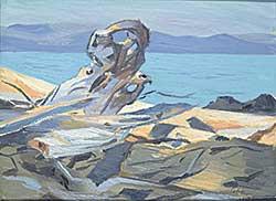 #1046 ~ Ewan - Untitled - On the Rocks by the Sea