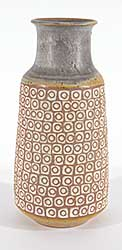 #1325 ~ School - Yellow and Grey Patterned Vase