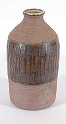 #1326 ~ School - Narrow Top Vase with Brown Patterns