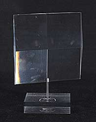 #1494 ~ Tasca - Objet d'Art - Prismatic Sculpture on Rotating Stand