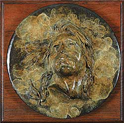 #1274 ~ Zach - Untitled - Indian Plaque  #13/50
