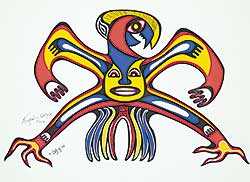 #88 ~ Odjig - Untitled - Spirit of the Mighty Thunderbird