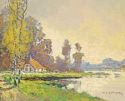 #1196 ~ Van Norden - Untitled - Cottage on the Lake