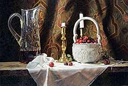 #451 ~ Jordan - Untitled - Still Life with Cruet, Bowl of Fruit