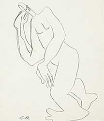#1148 ~ Robinson - Untitled - Leaning Figure