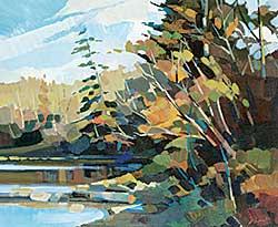 #1197 ~ Vest - Shoreline - N. Sask Riverside Sketch