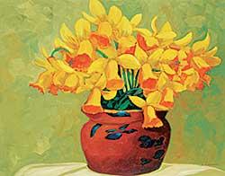 #47 ~ Fournier - Daffodils in Clay Pot