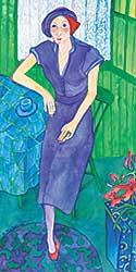 #1205 ~ Nicholson - Untitled - Lady in Purple