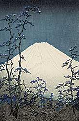 #1208 ~ Okada - Untitled - Fuji Through the Trees