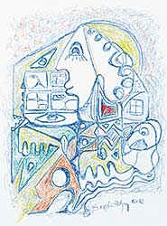 #68 ~ Odjig - Untitled - Figures and Houses