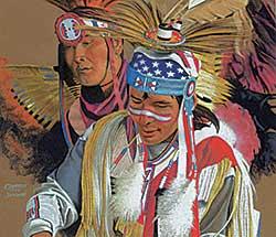 #435 ~ Jamieson - Untitled - Pow Wow Dancers