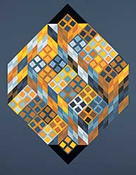 #479 ~ Vasarely - Untitled - Cubist Composition  #99/250